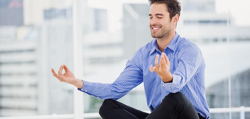 Meditierender Unternehmer